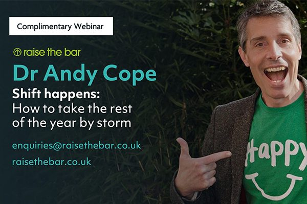 Webinar: Shift happens: How to take the rest of the year by storm. Led by Andy Cope thumbnail